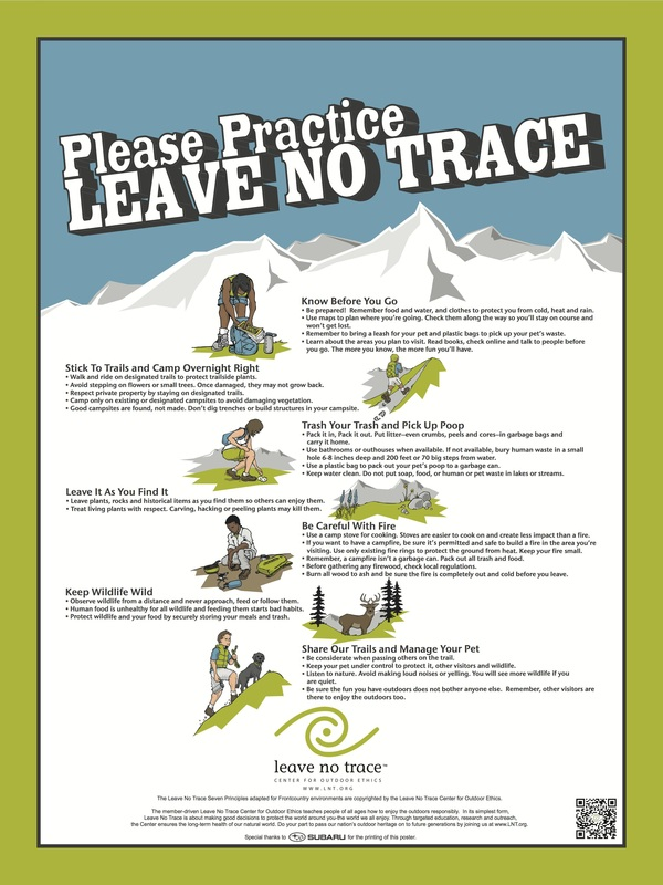 picture regarding Leave No Trace Printable named Go away no Hint\
